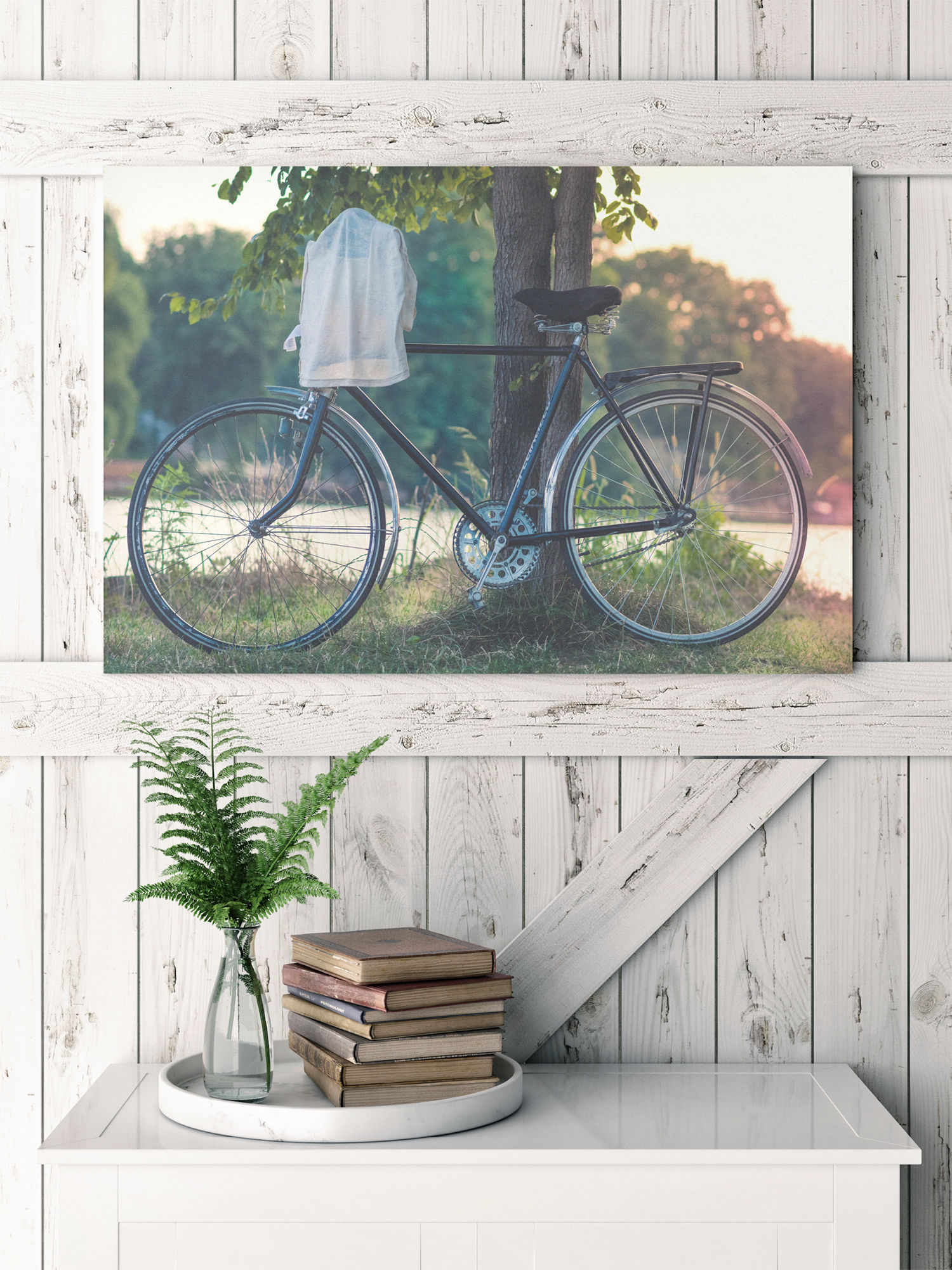 bicycle on canvas print