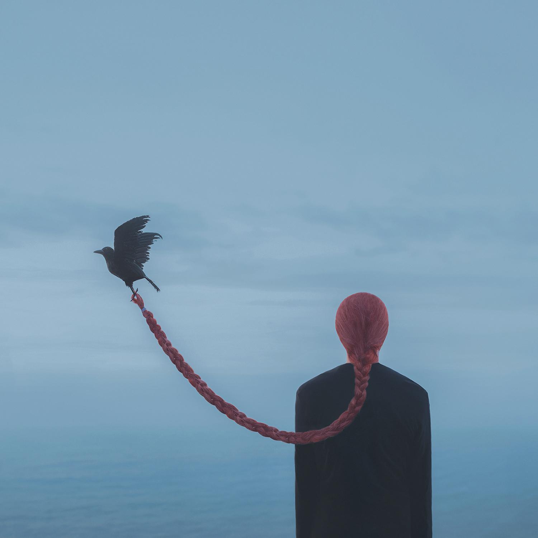 Gabriel Isak - braided hair and raven