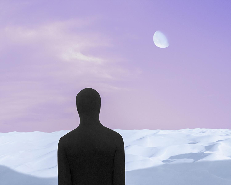 Gabriel Isak - shadow self looking at the moon