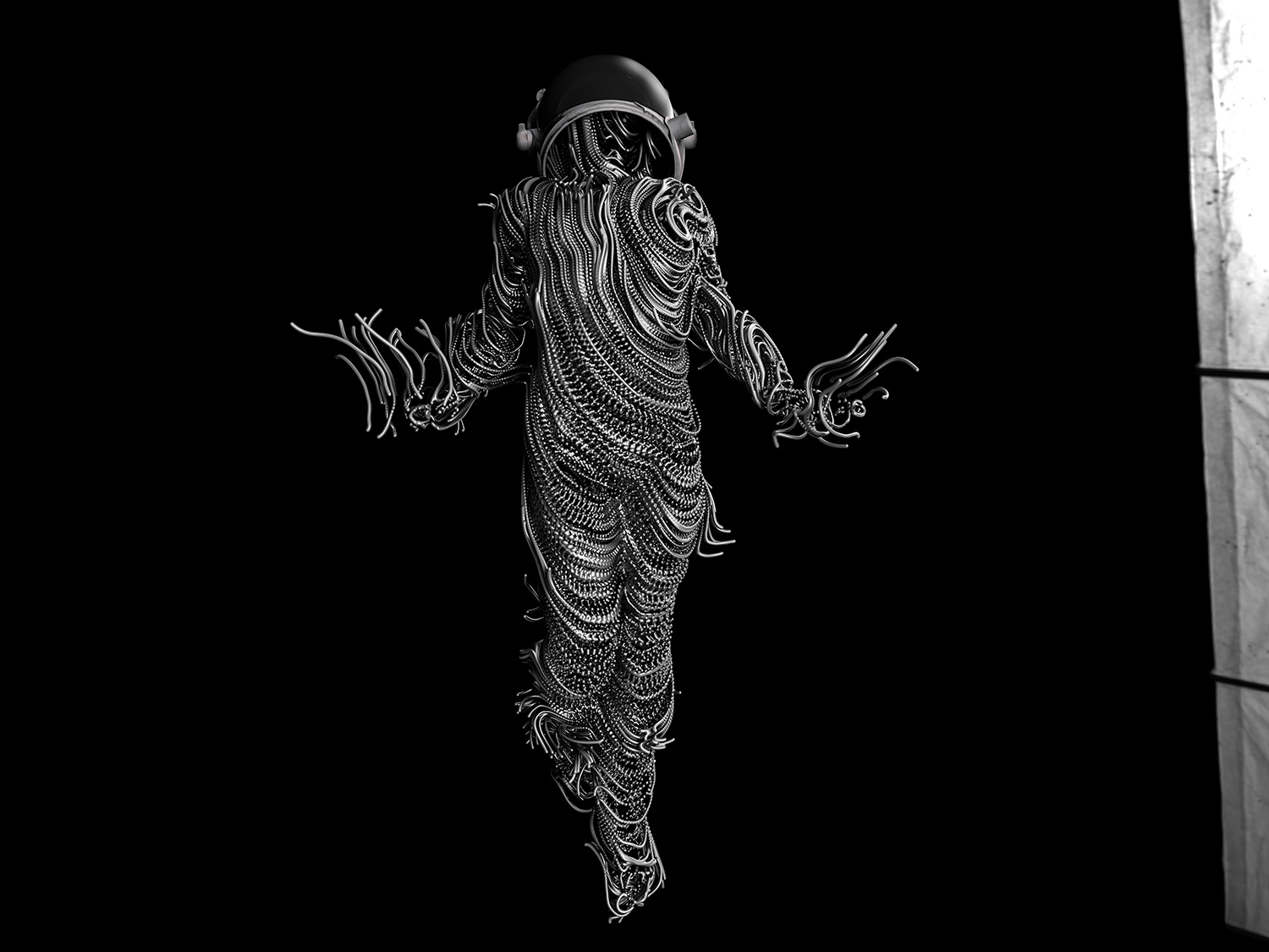 NastPlas - DEIMOS, wire astronaut full body