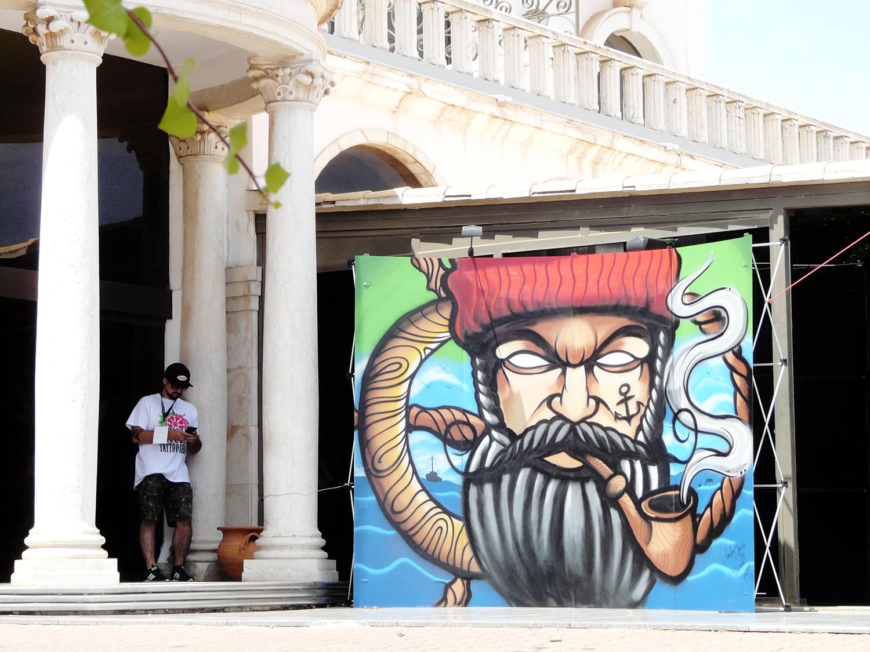 Amilcar Sousa (mike tattoo), graffiti piece outdoors