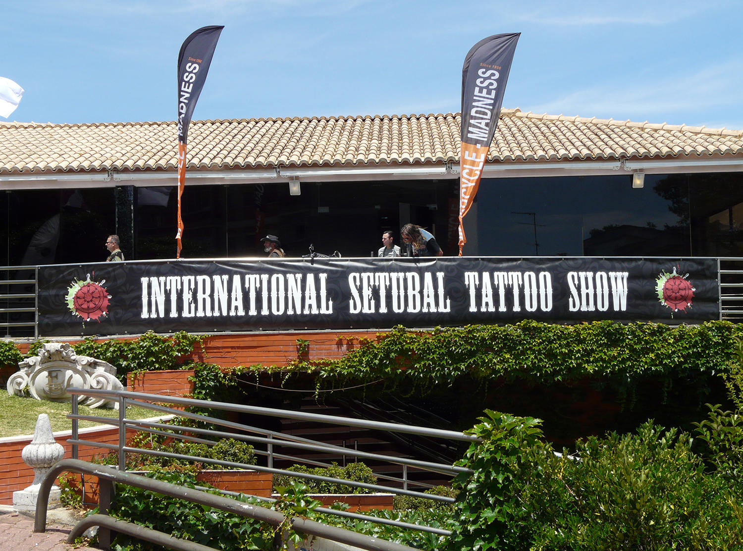the event, outdoors, banner of the international setubal tattoo show