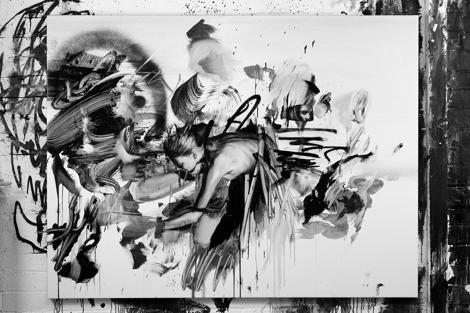 """graffiti style strokes, painting titled """"Analysis"""""""
