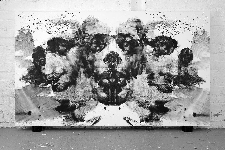 apophenia, painting, optical illusion trio