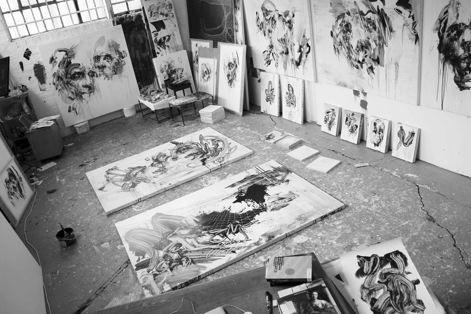 studio shot, tom french paintings
