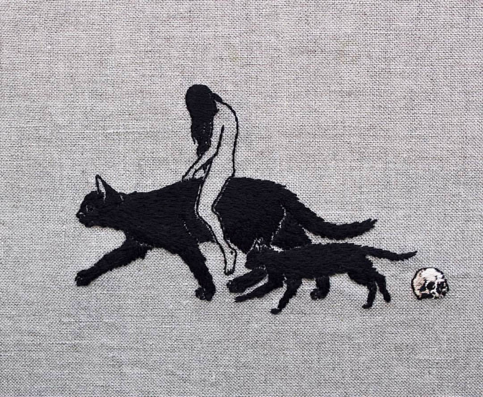 Mysterious, Occult-Themed Embroidery by Adipocere