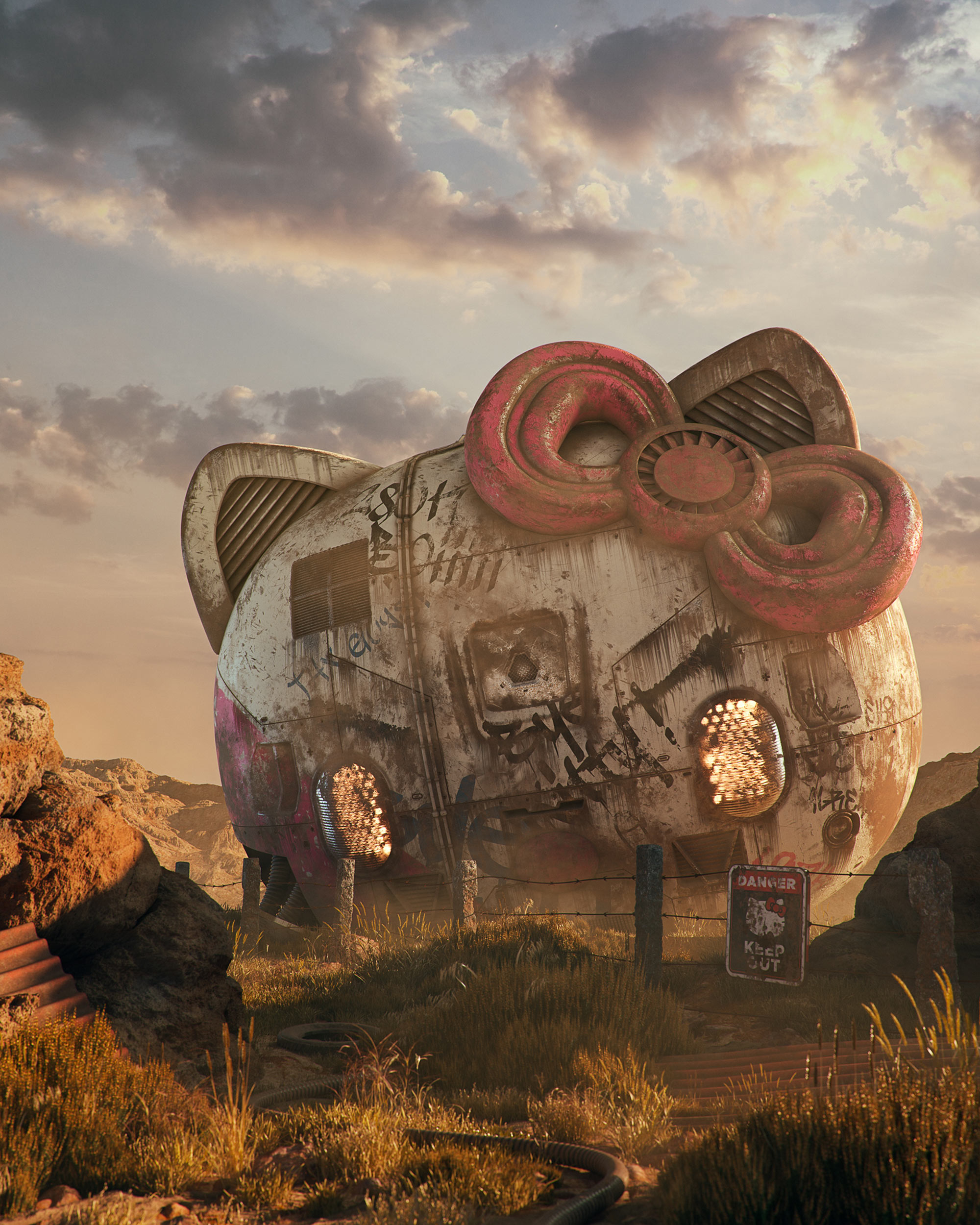Filip Hodas - Pop culture dystopia, Hello Kitty