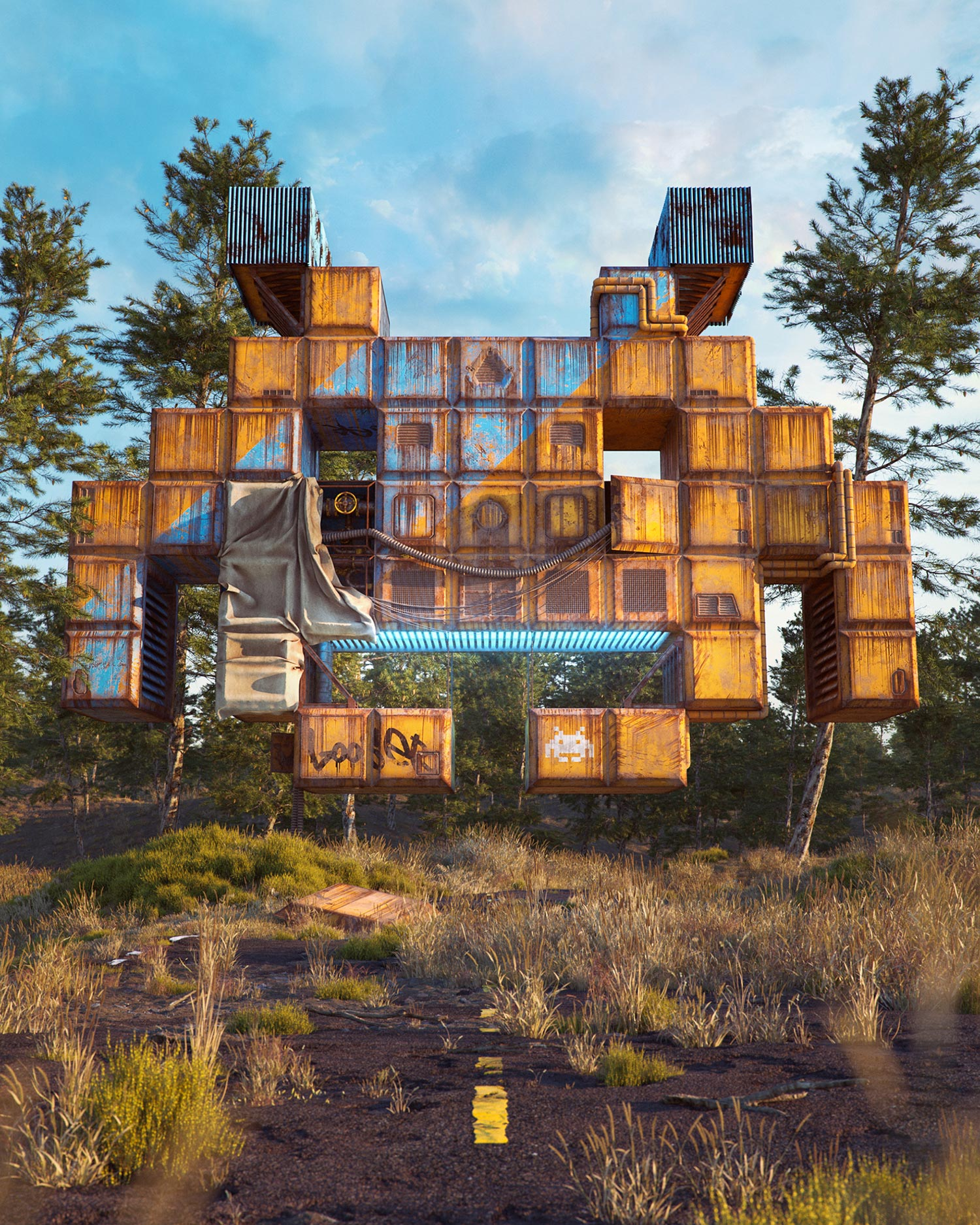 Filip Hodas - Pop culture dystopia, Space Invaders