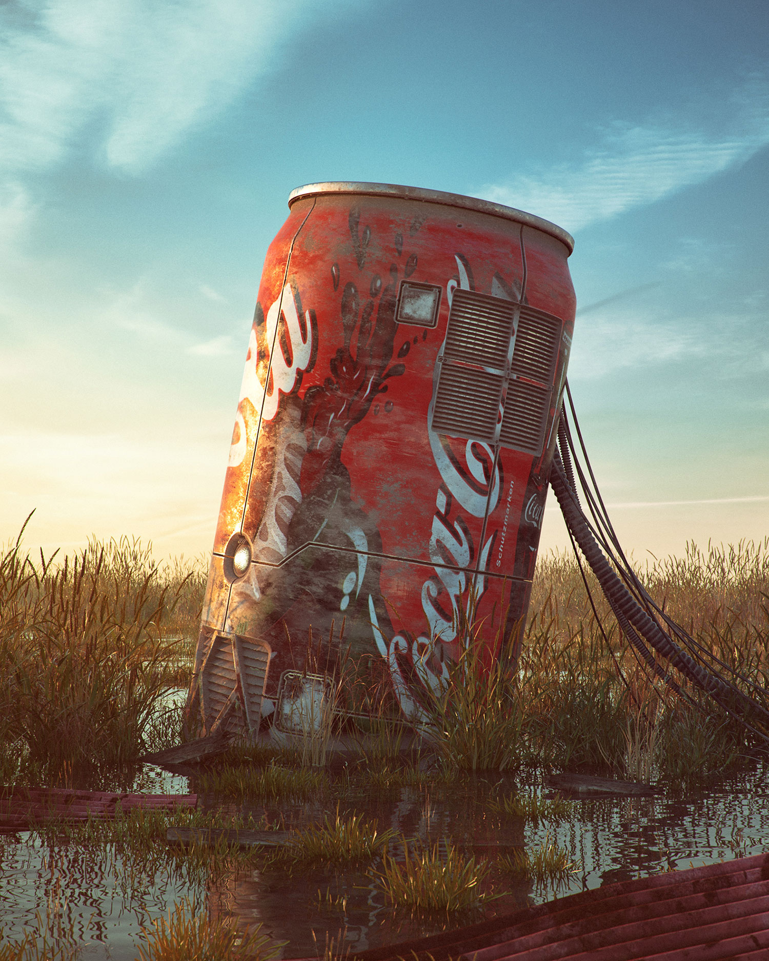 Filip Hodas - Pop culture dystopia, Coca Cola can