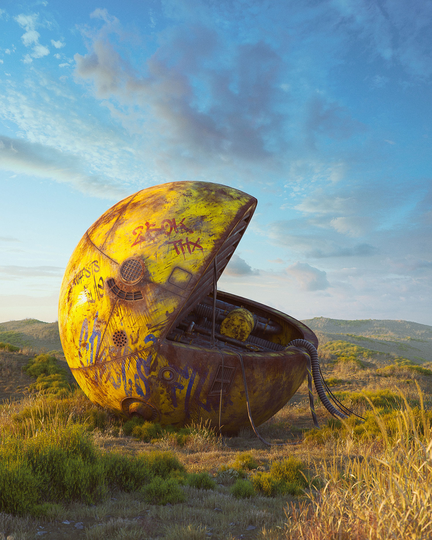 Filip Hodas - Pop culture dystopia, Pac Man