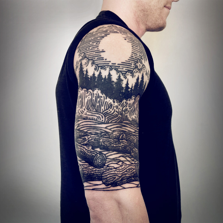Lisa Orth, tattoo - Derek, northwest