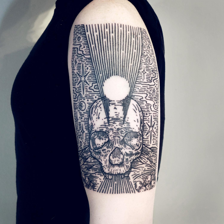 Lisa Orth, tattoo - Marcin, death stars