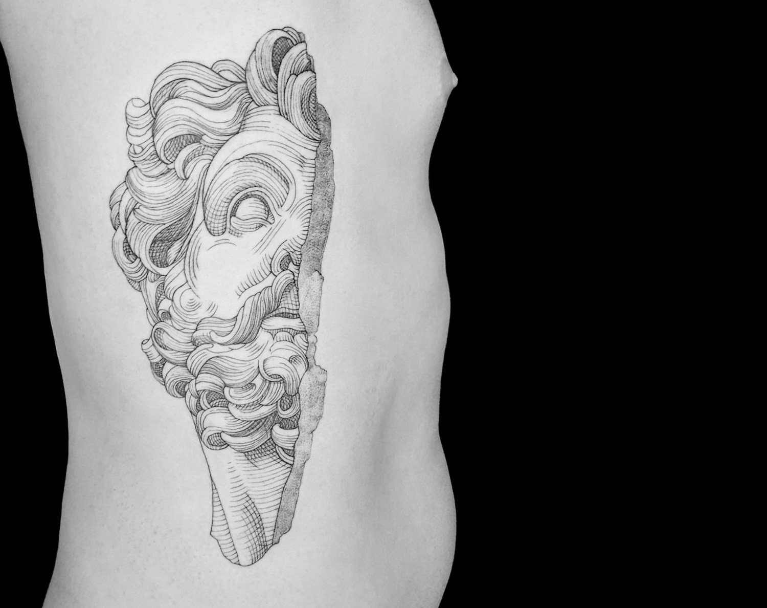 classic sculpture tattoo