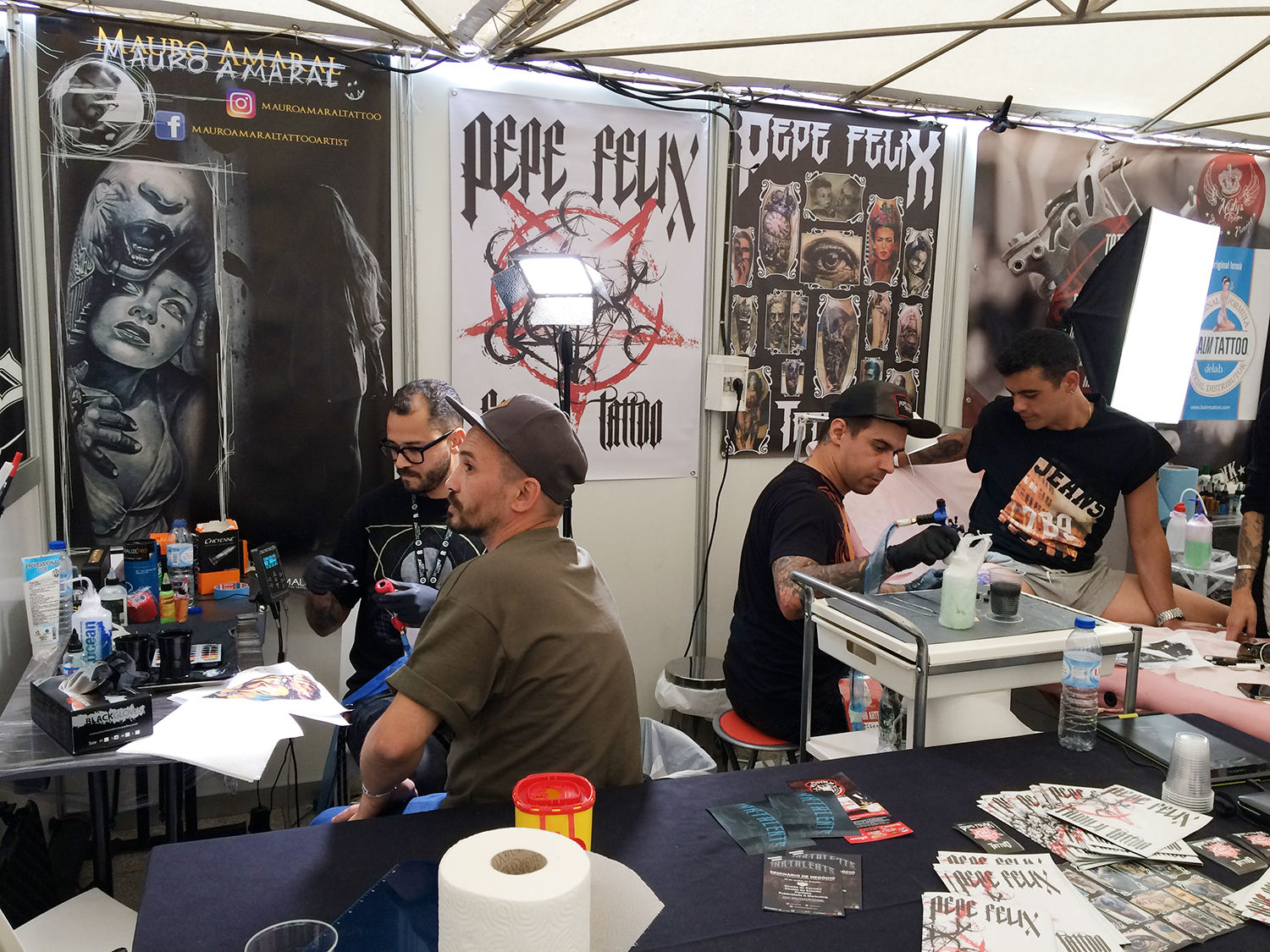 tattoo convention photo at booth