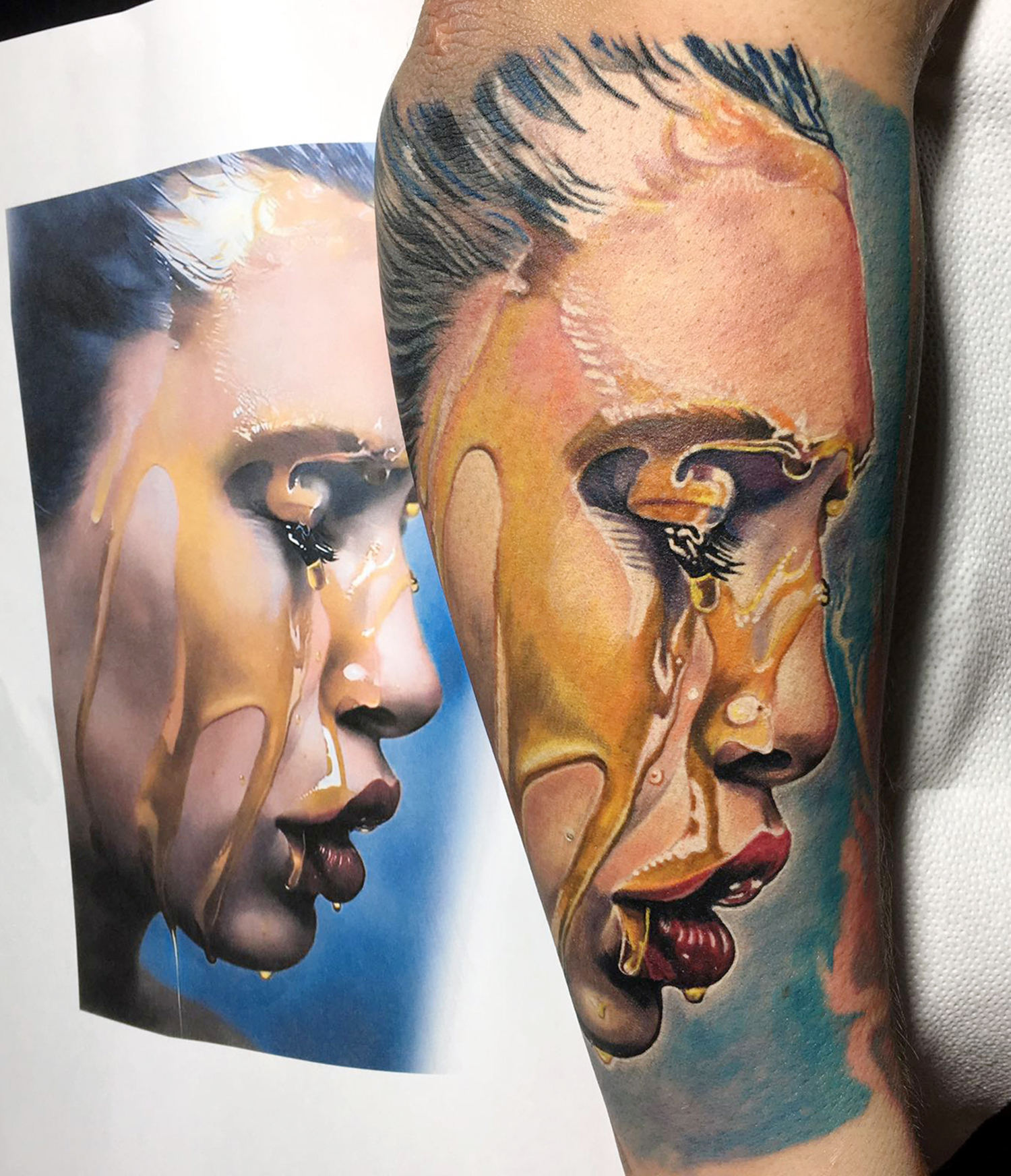 Mike dargas art, tattooed by mauro amaral