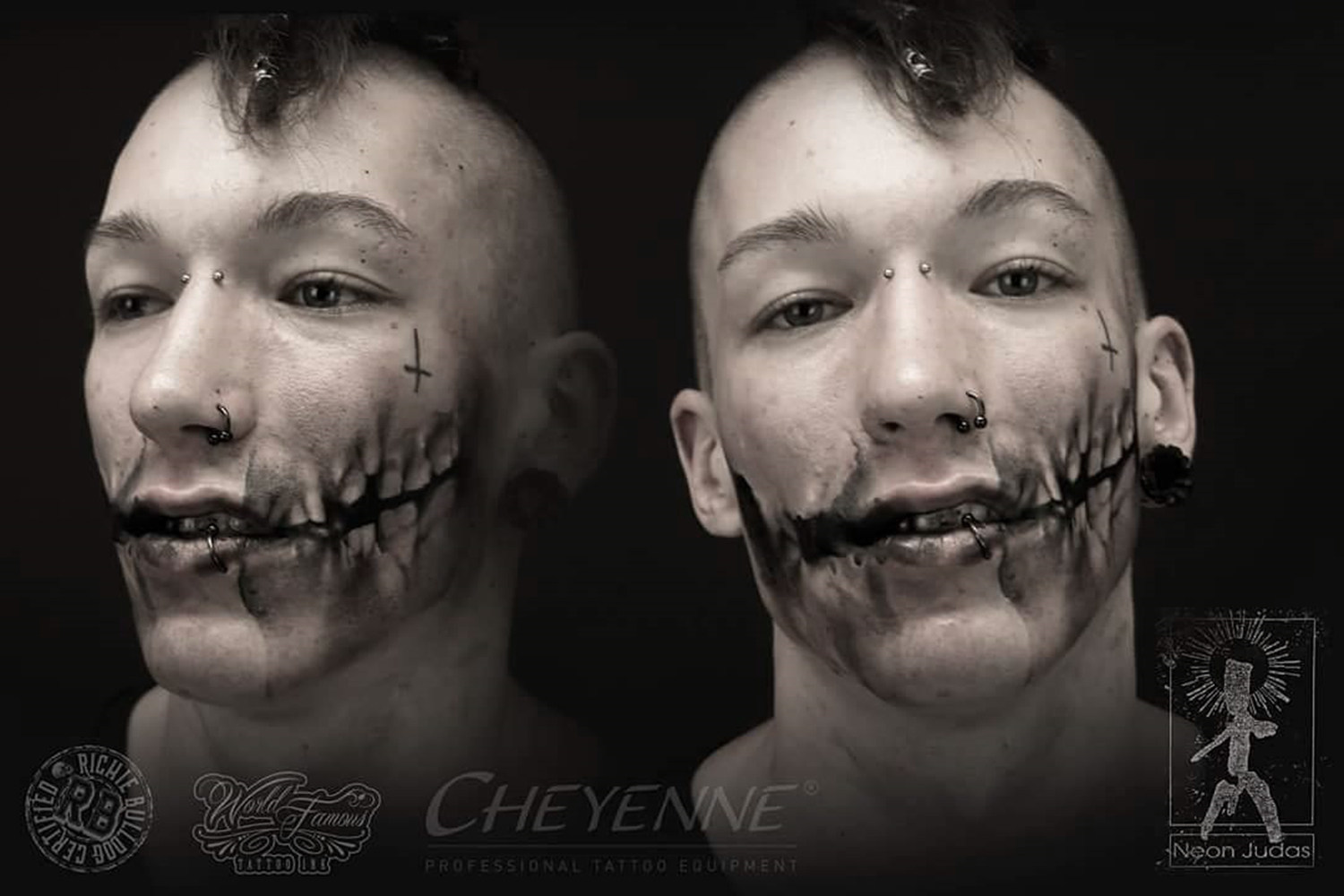 shocky face tattoo, controversial tattoo