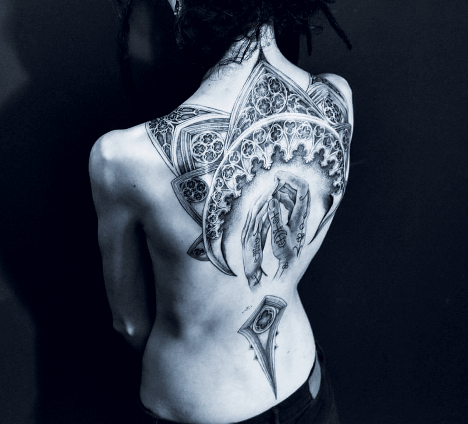 Placide Avantia - back cathedral tattoo