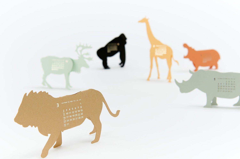 "3D ""Safari Calendar"" by Katsumi Tamura"