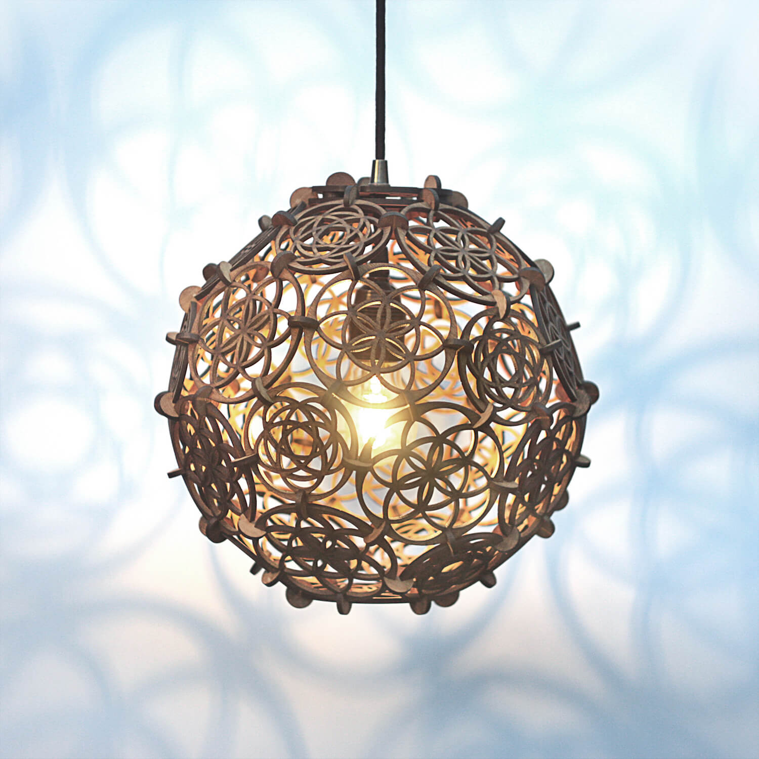 truncated icosahedron lamp