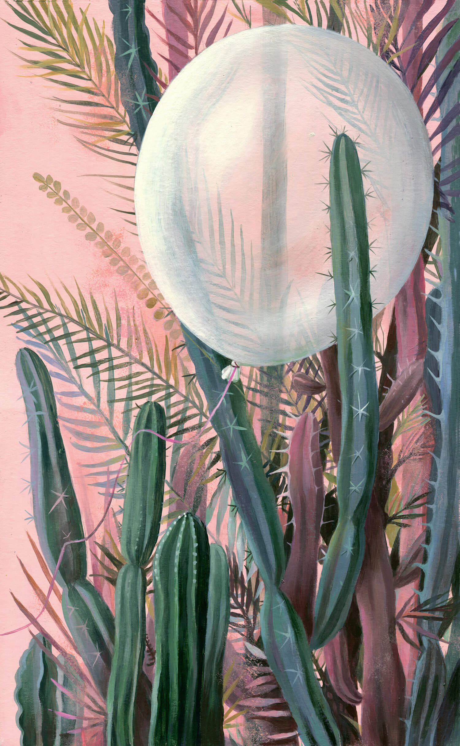 balloon among cacti