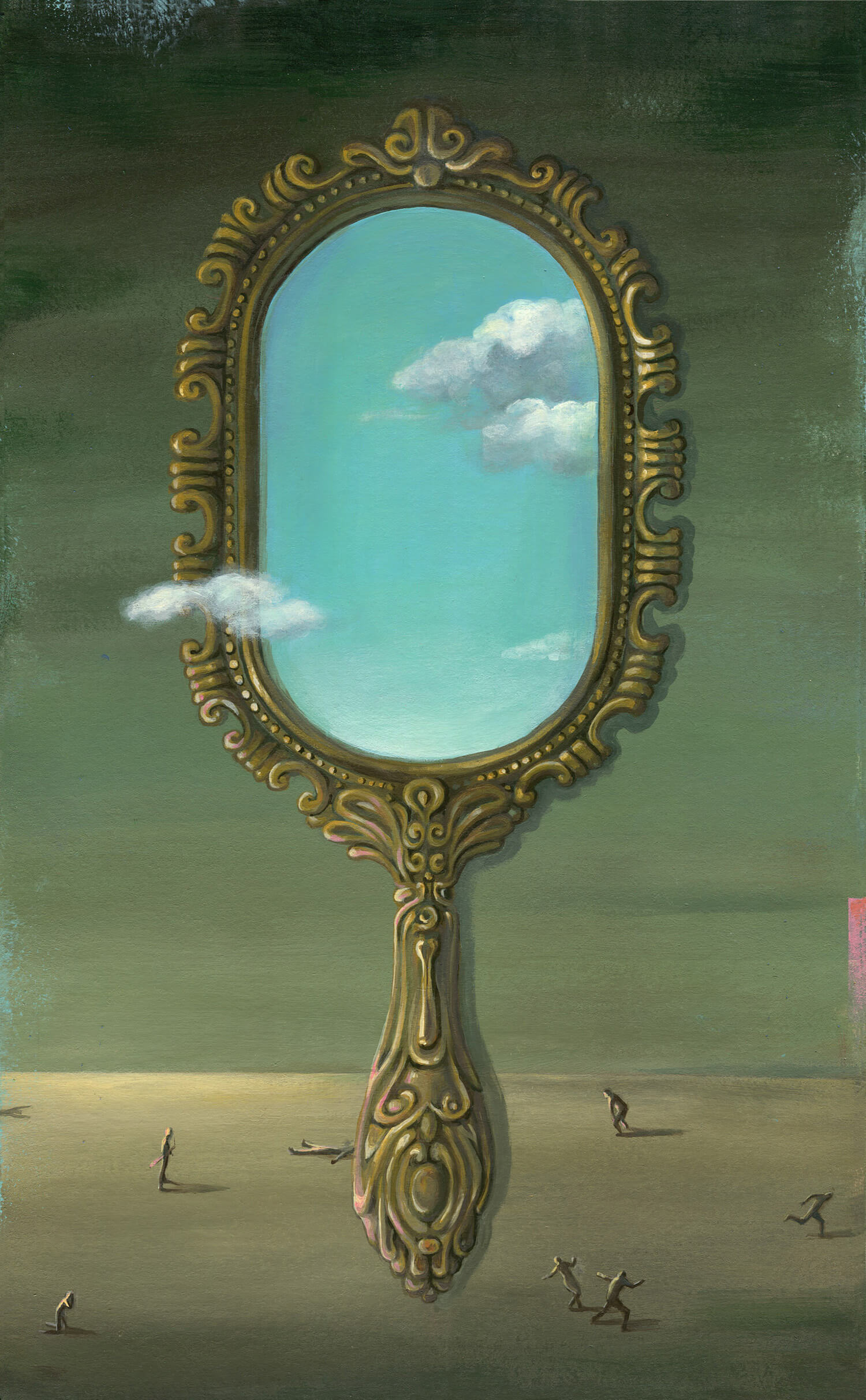 Surreal mirror painting