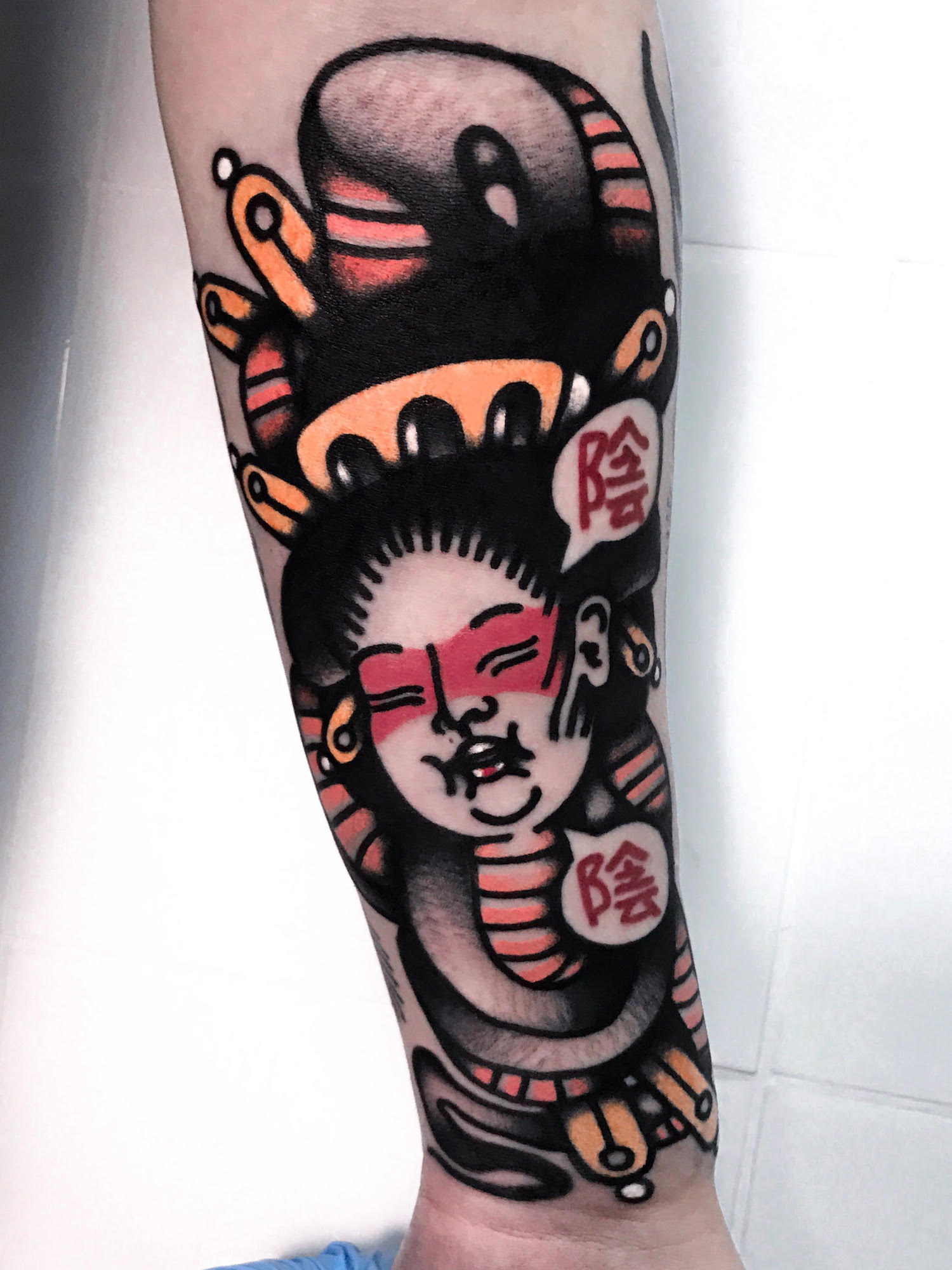 Geisha tattoo on arm