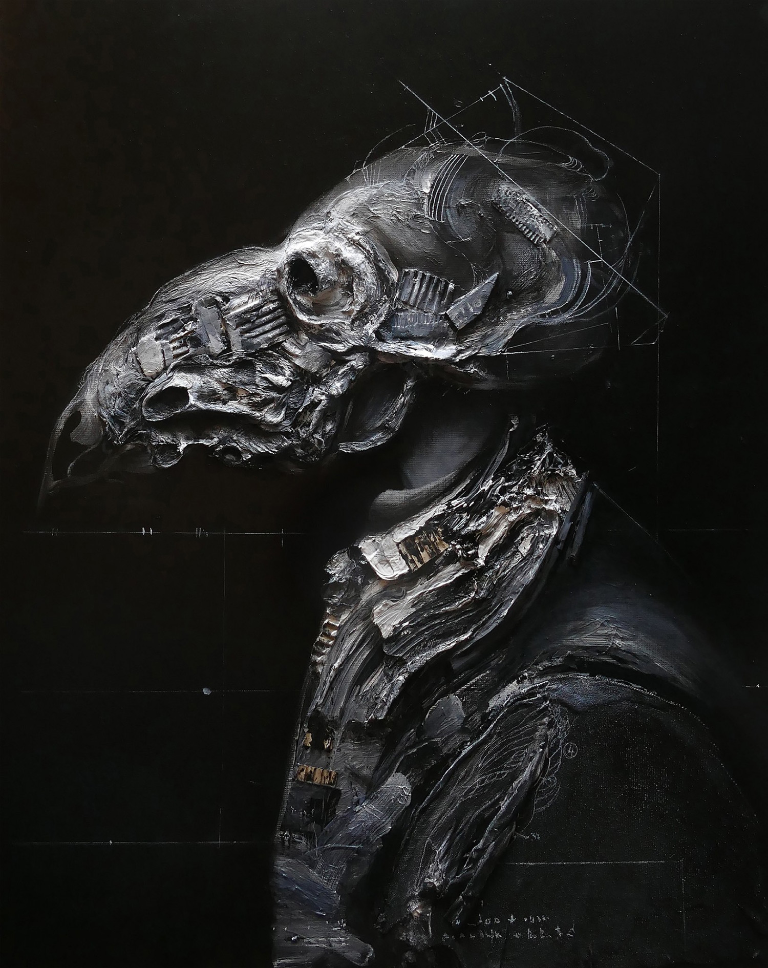 Eric Lacombe - dark industrial skull