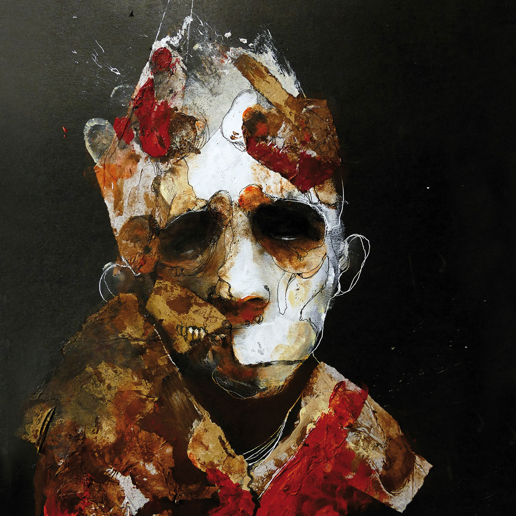 Eric Lacombe - decaying face cover