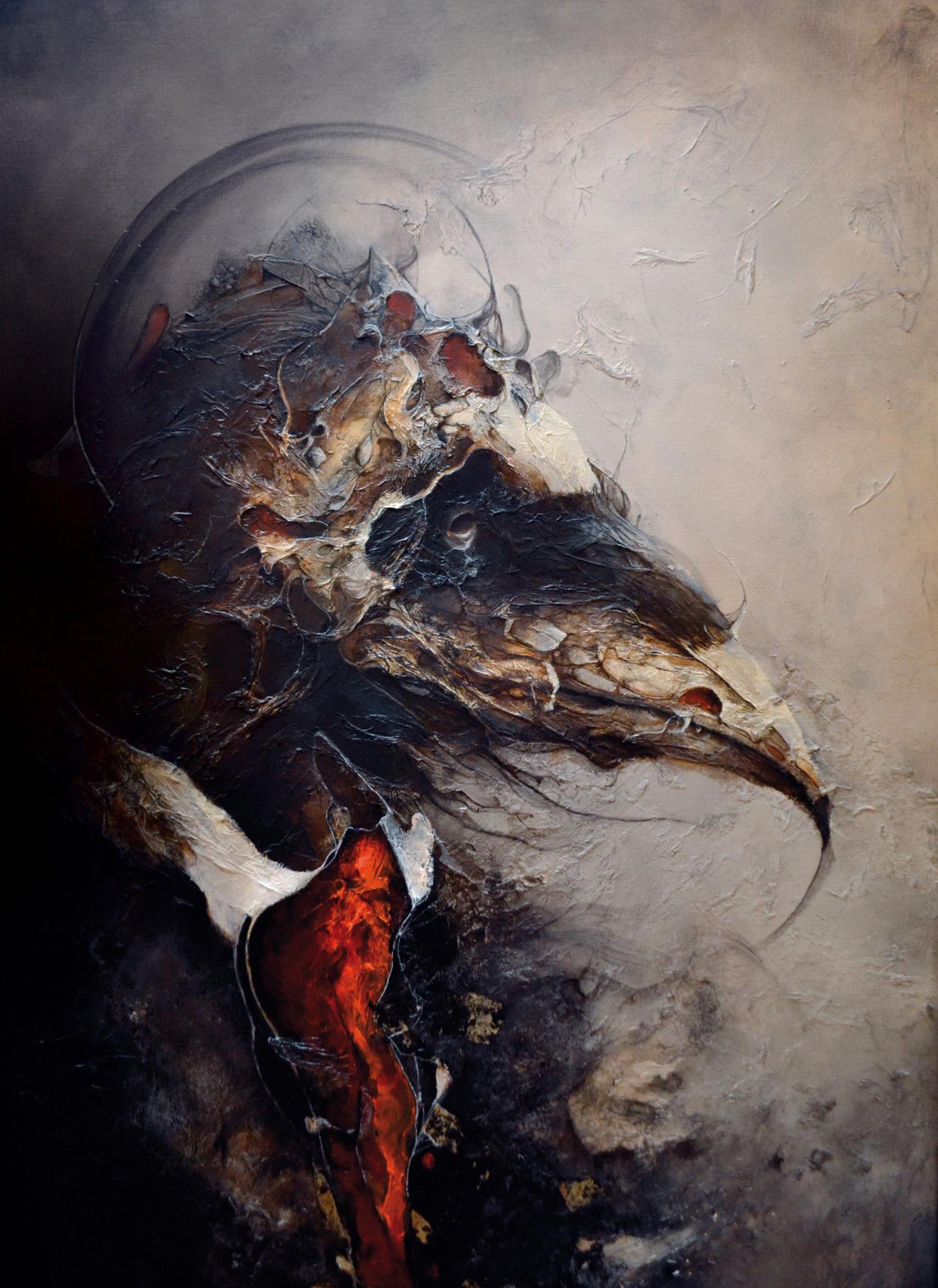 Eric Lacombe - bird-headed man