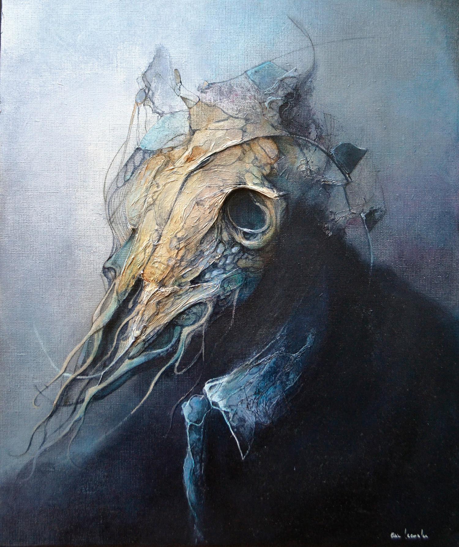Eric Lacombe - skull-faced figure