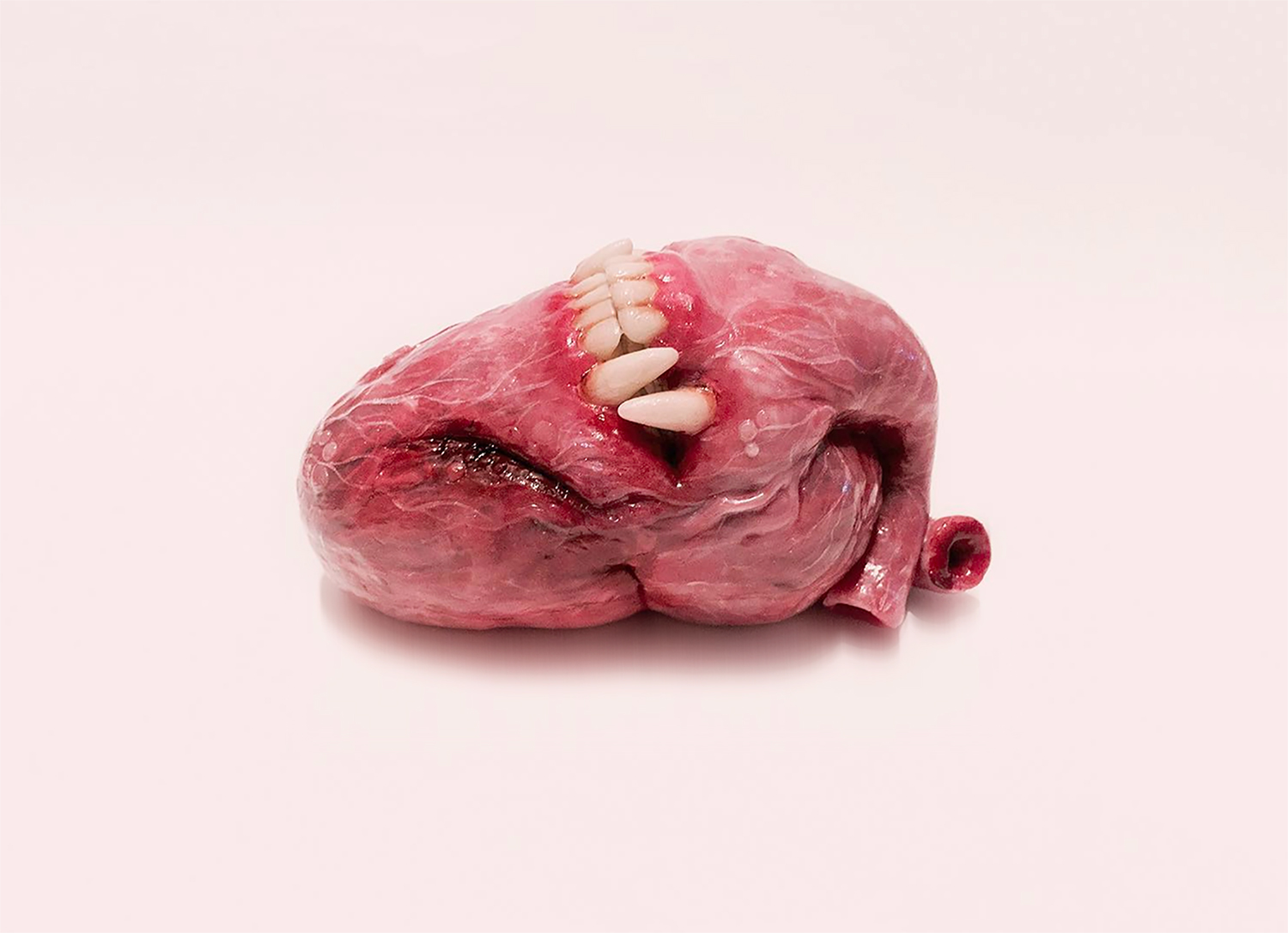 qimmyshimmy - heart sculpture with fangs
