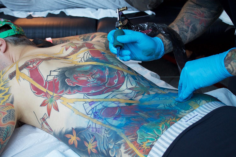 Art Tattoo Montreal Show, Chad Woodley back tattoo