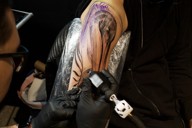 Frank Carrilho, Art Tattoo Montreal Show - progress shot