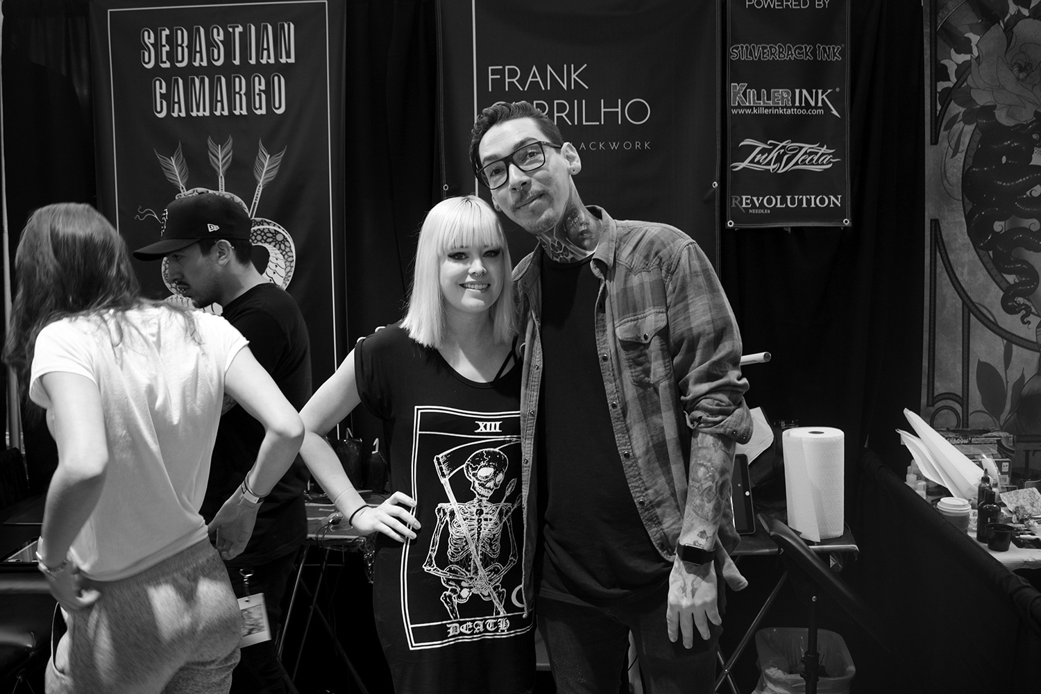 Frank Carrilho, Art Tattoo Montreal Show - Frank Carrilho and Hayley Evans