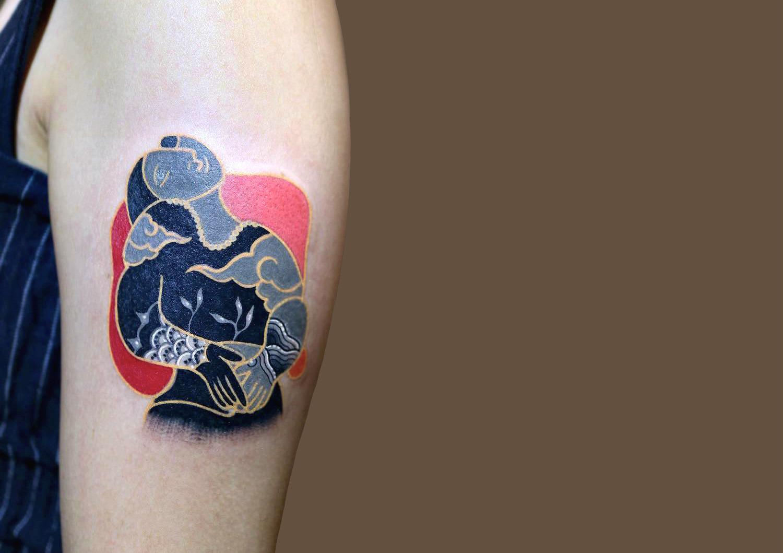 Picasso tattoo adaptation by Korean artist Pitta KKM