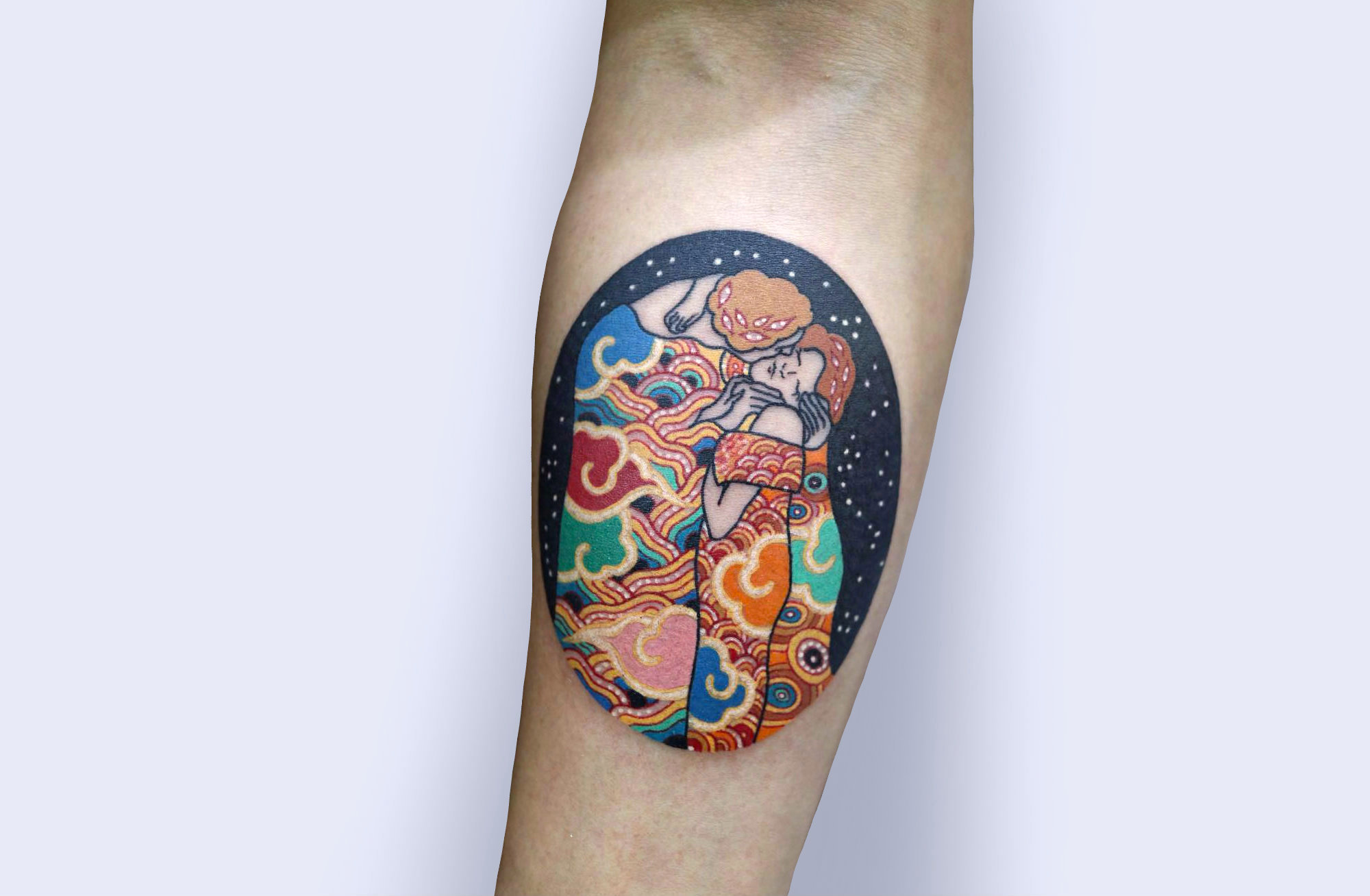 A Korean Twist on Iconic Fine Art: Pitta KKM Tattoos
