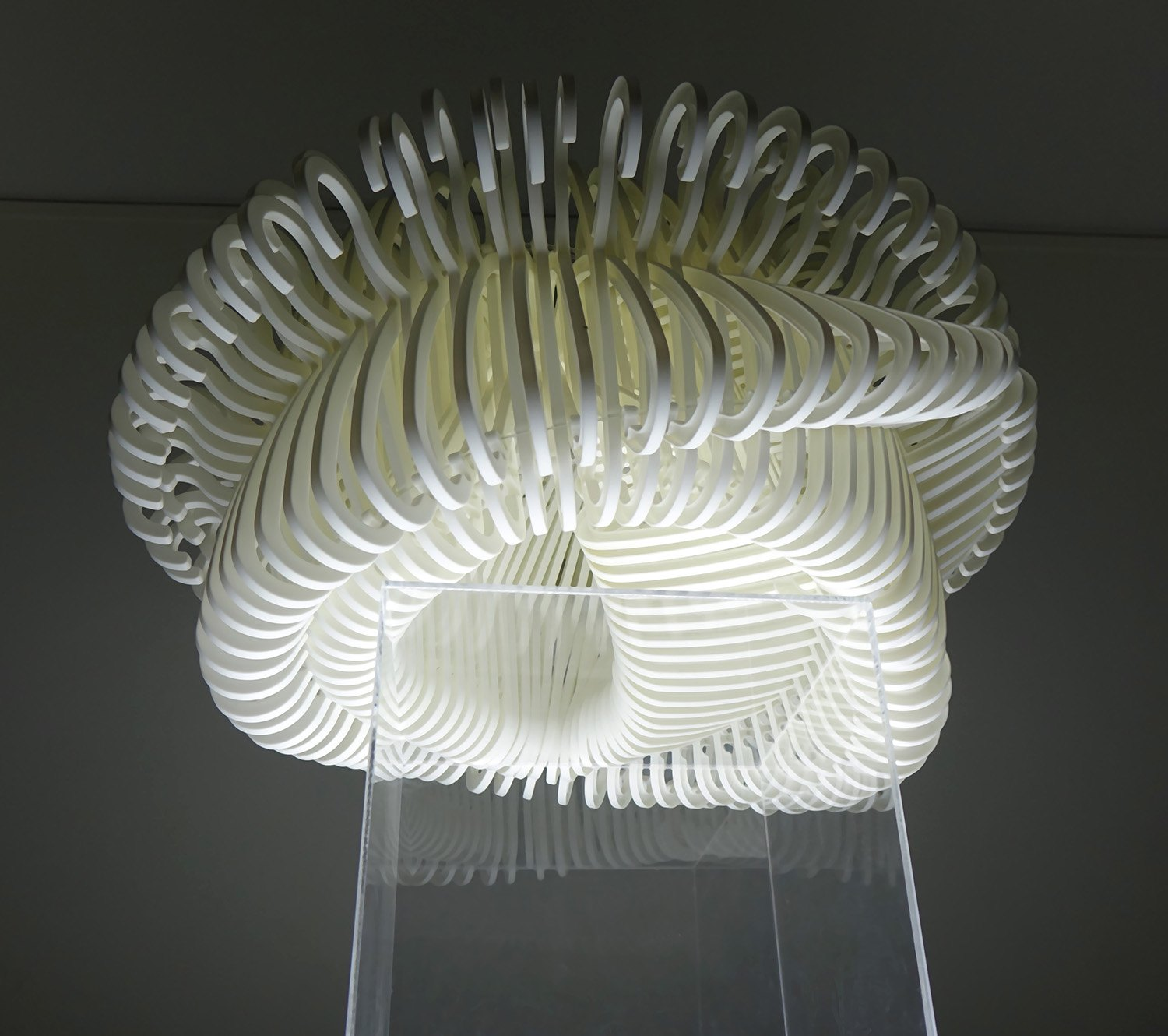 Lit tabletop sculpture