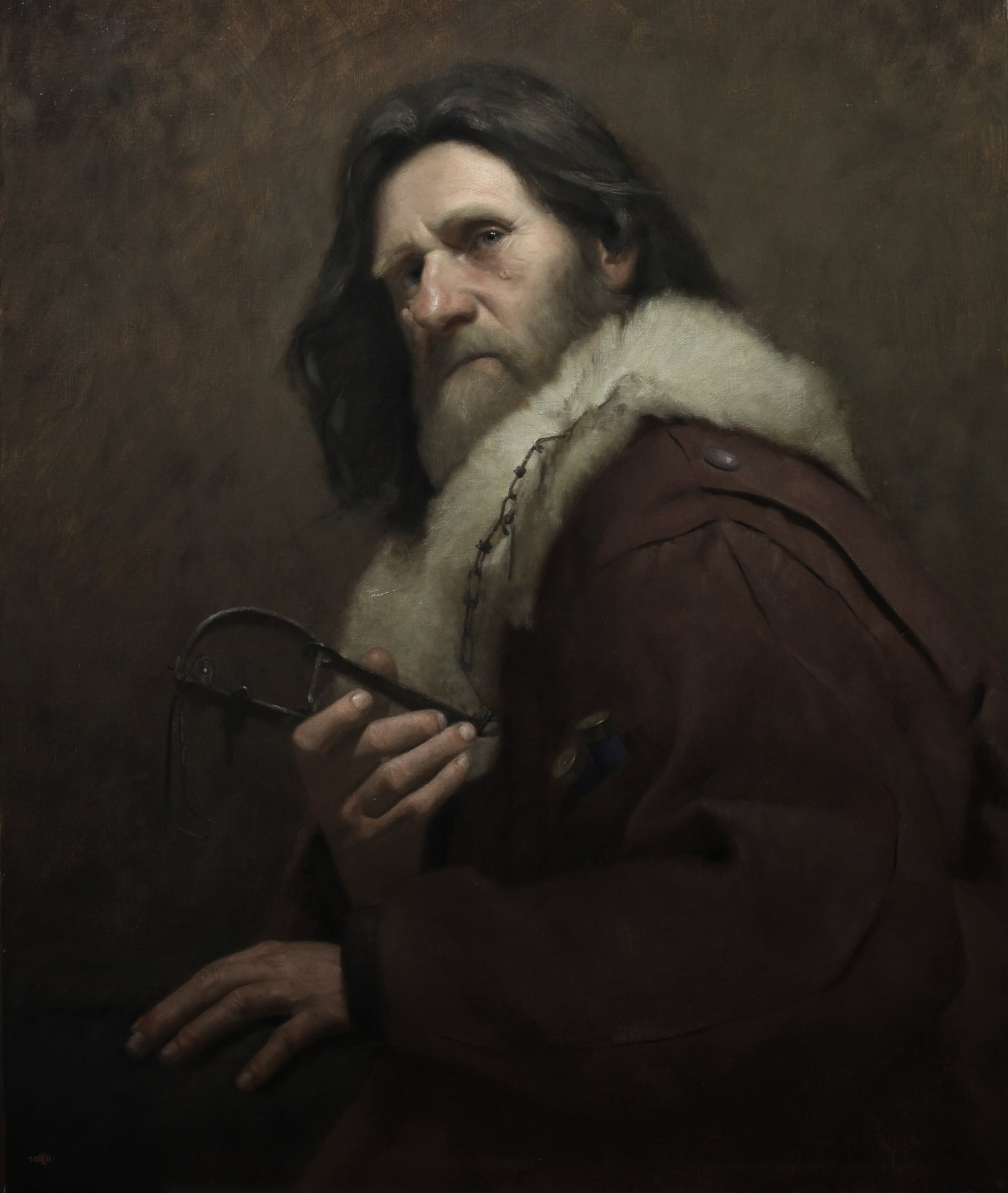 The Trapper, oil painting by david gluck