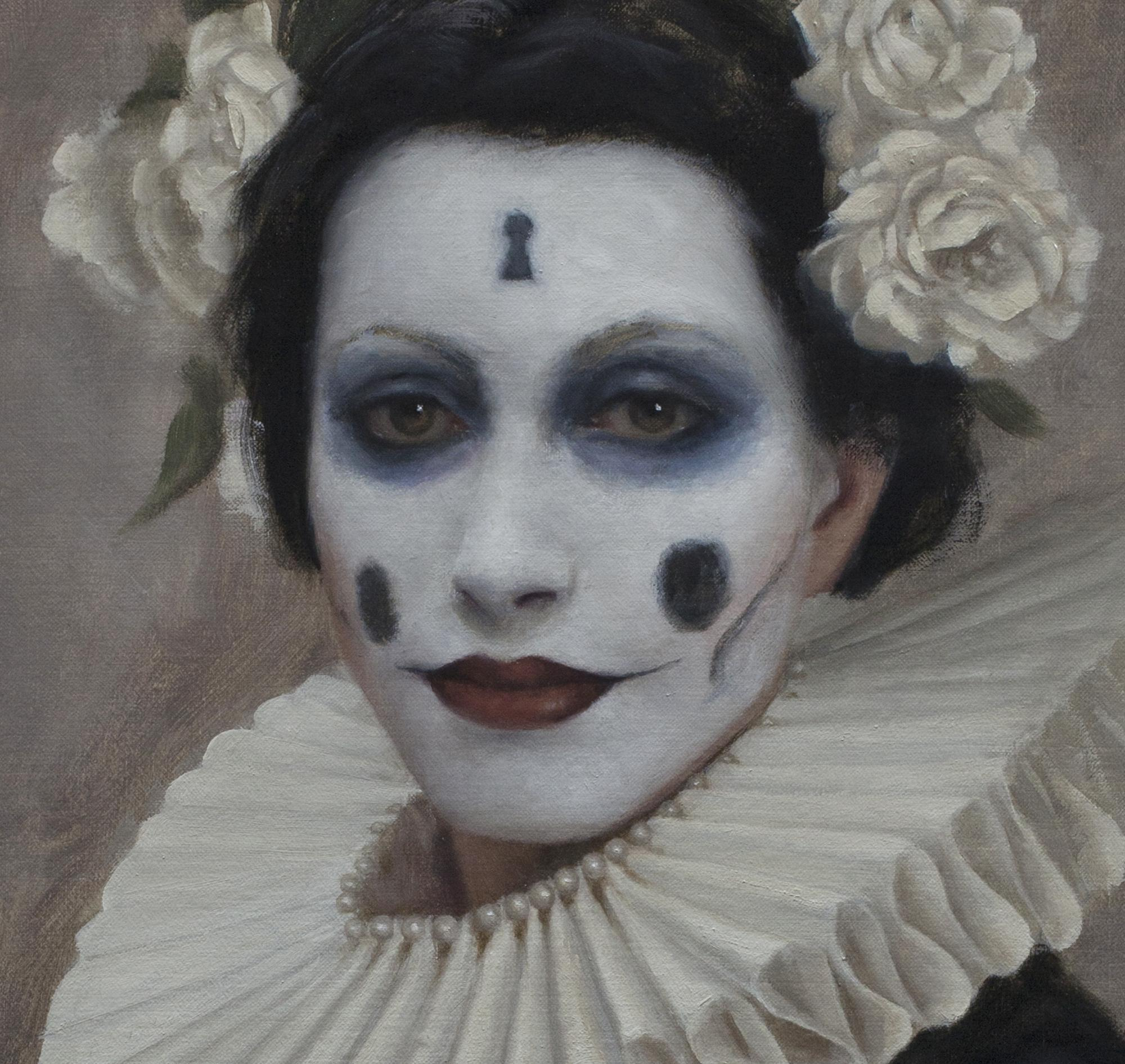Skeleton Key, oil painting by david gluck, portrait