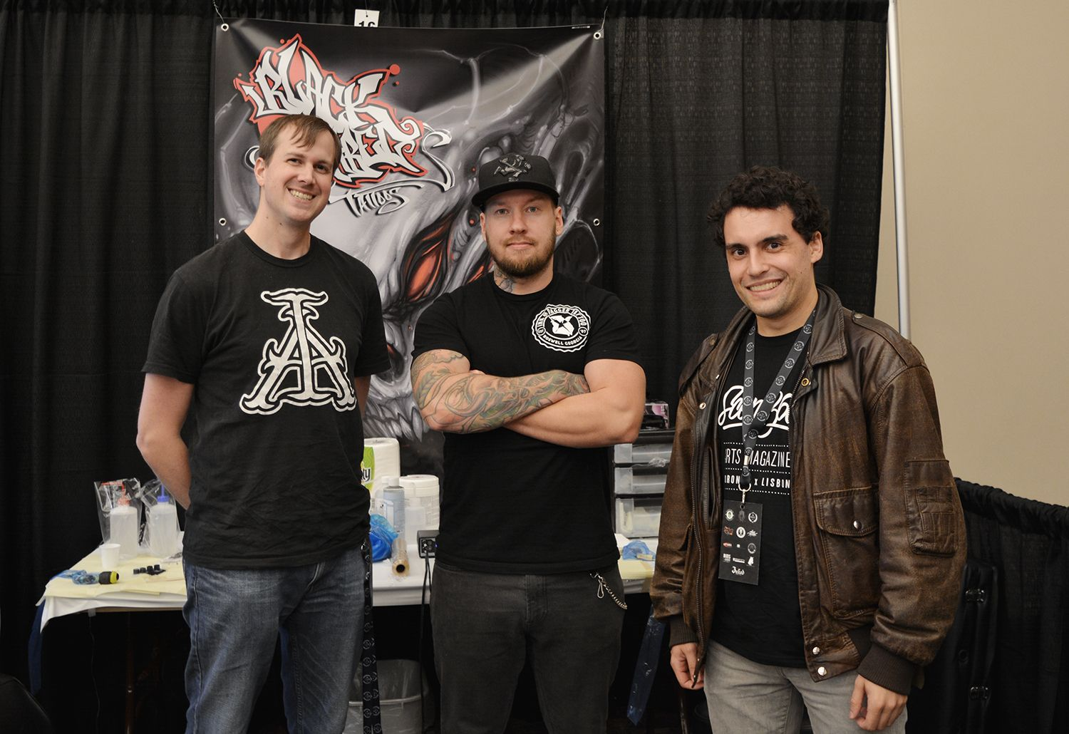 David Gluck (artist) and Tony Carter (Scene360), tattoo convention, van isle expo
