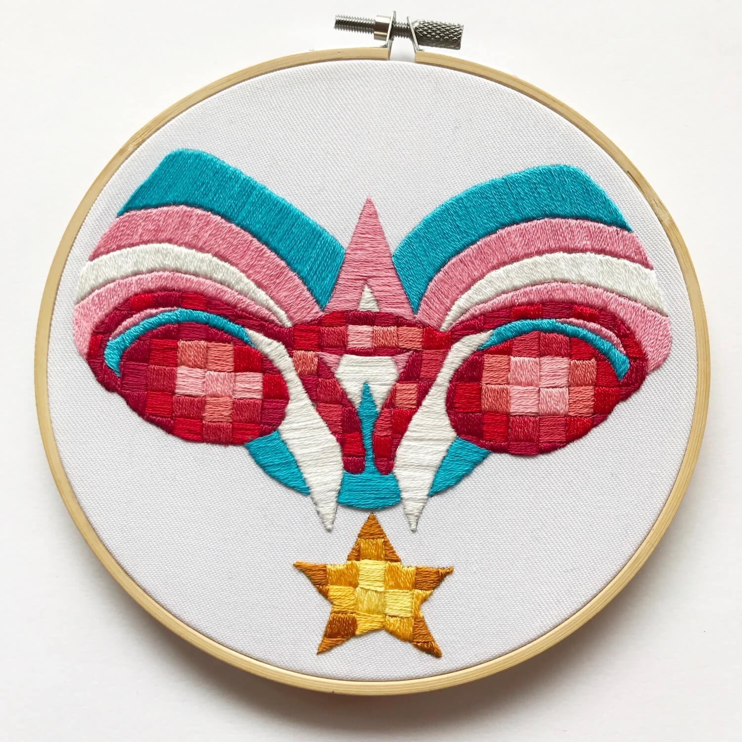 Ovaries embroidery with star motif