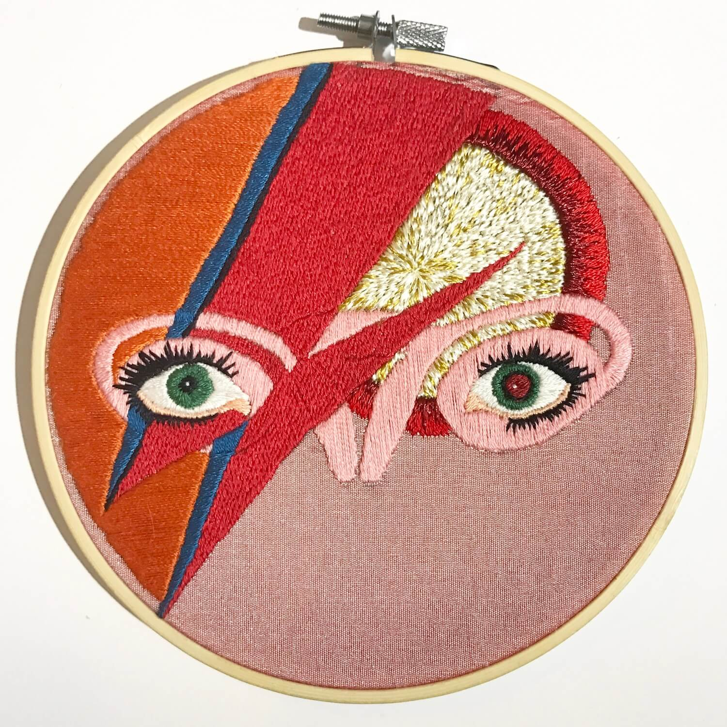 Ovaries embroidery with david bowie motif