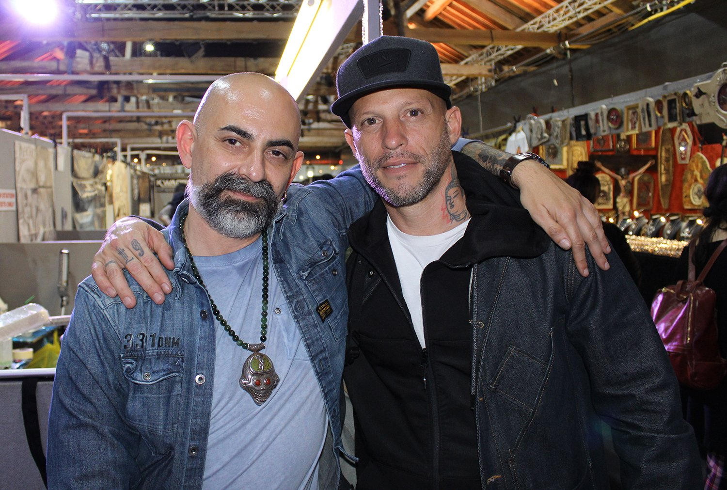 Miki Vialetto and Ami James at the london tattoo convention