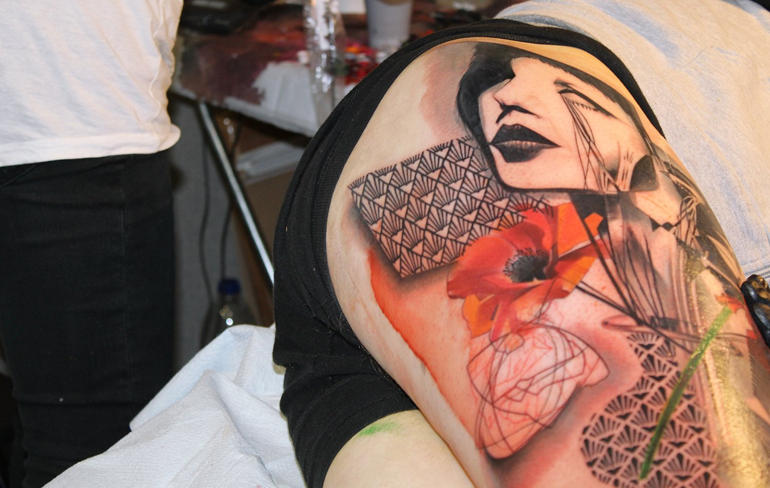 closeup of ivana and jessi manchester's tattoo