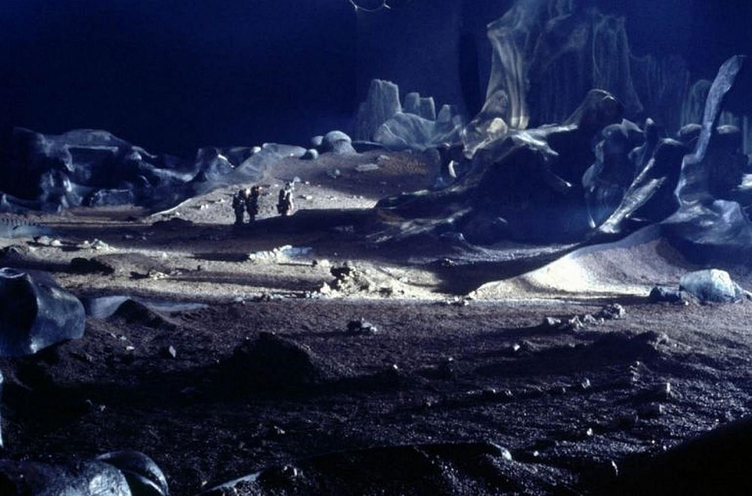 space scene, landscape blue and isolated