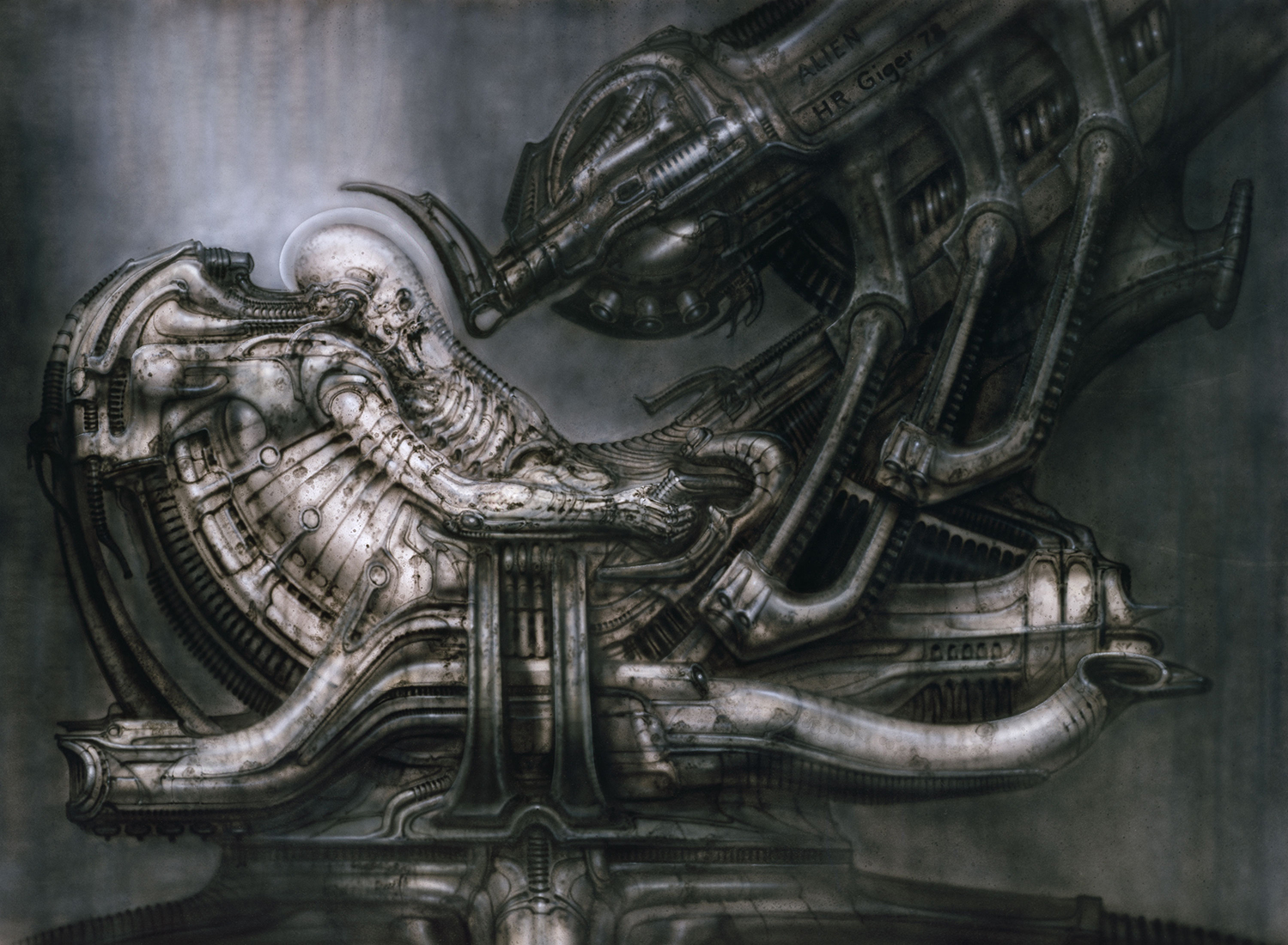 hr giger art, inspired the movie alien