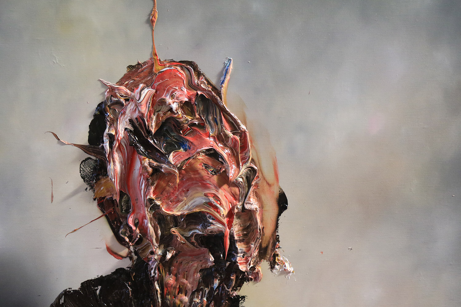 Antony Micallef - impasto painting close up