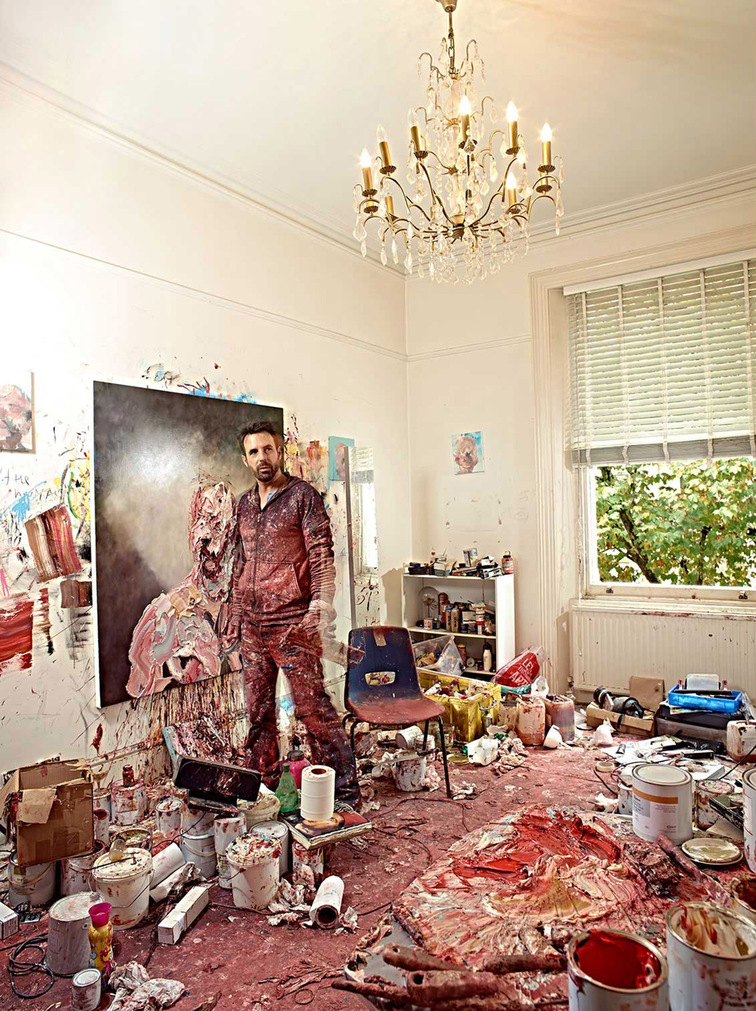 Antony Micallef - artist in studio