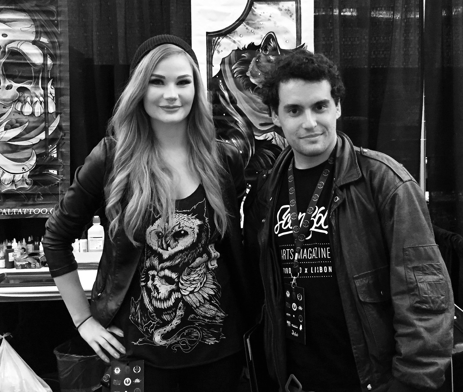 autumn dancer and tony carter at tattoo convention, victoria, canada