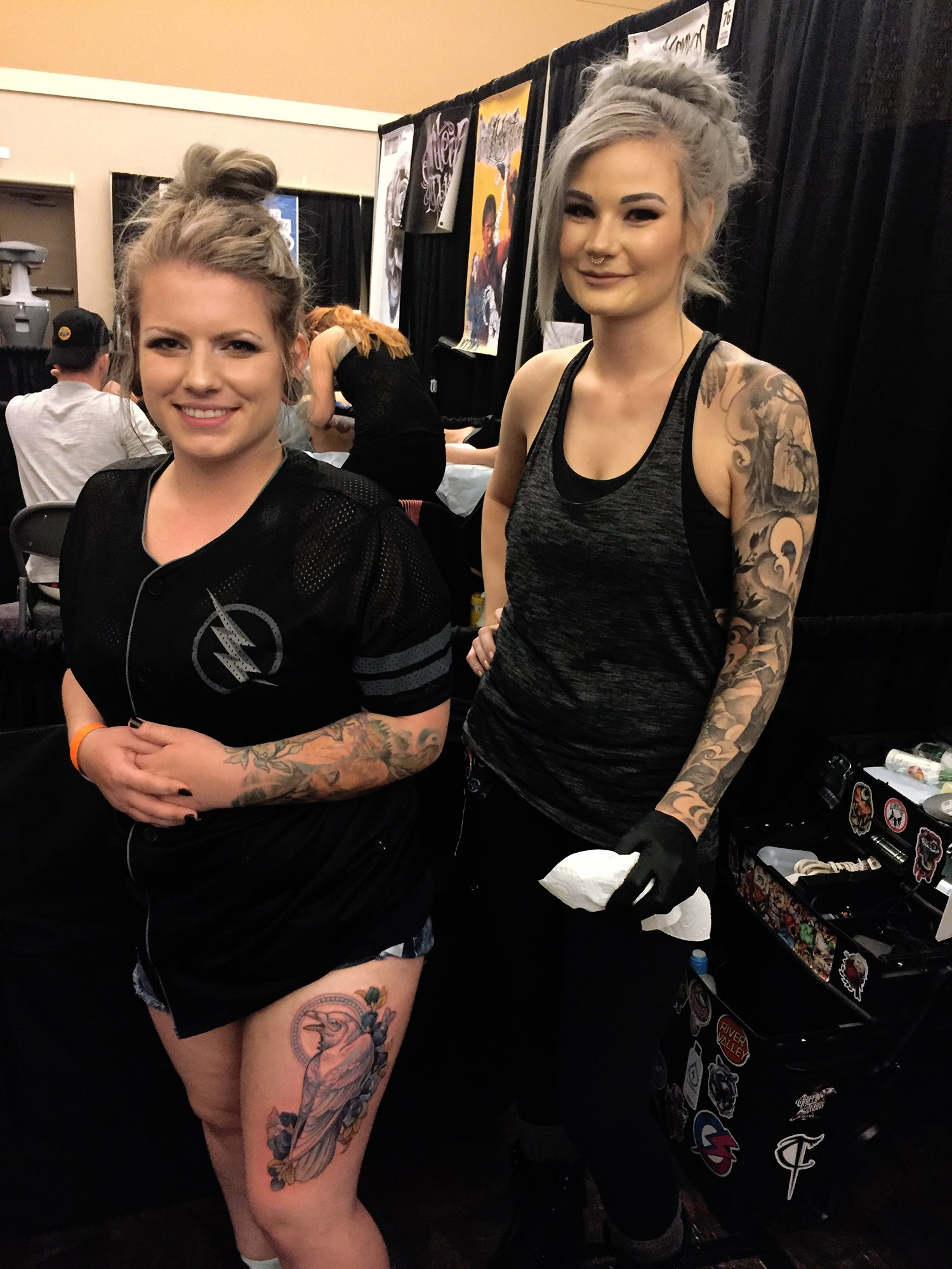 client and tattooer autumn dancer, tattoo conventions